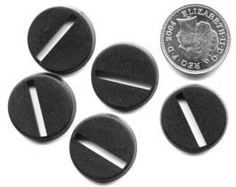 Pack of 20 x 20mm round slotta-bases