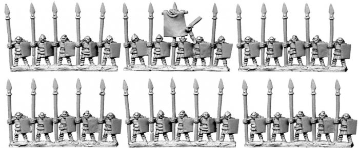 10mm Half-Orcs with Spears