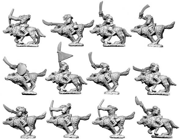 10mm Orc  Wolf-Riders
