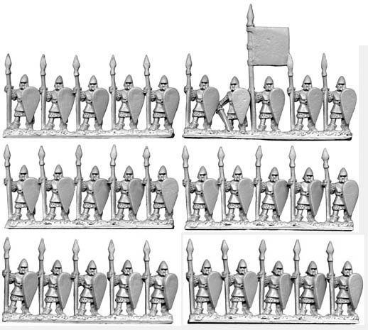 10mm City Spearmen