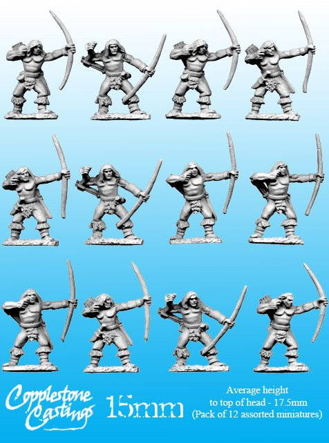 15mm Barbarian Archers