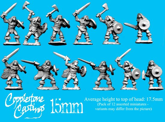 15mm Barbarian Warriors