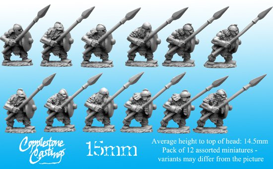 15mm Dwarf Spearmen