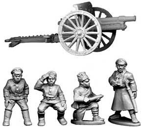 Bolshevik Field Gun and Crew